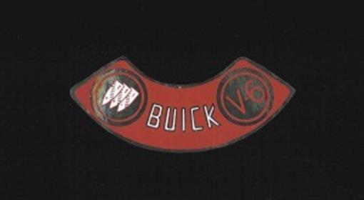 Buick V6 Air Cleaner Decal Red On Silver Ebay