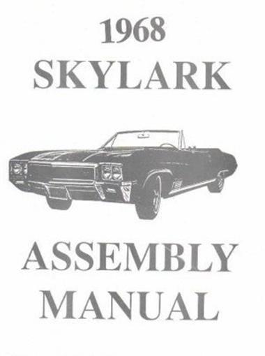 Buick 1968 Skylark  Special  U0026 Gran Sport Gs Assembly