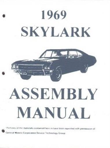Buick 1969 Skylark  U0026 Gran Sport Gs Assembly Manual 69