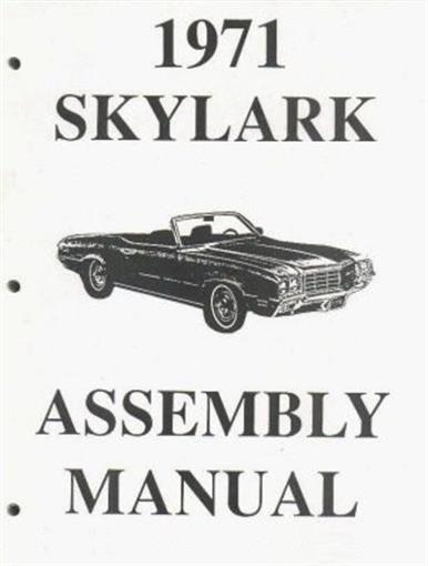 buick 1971 skylark  u0026 gs gran sport assembly manual 71