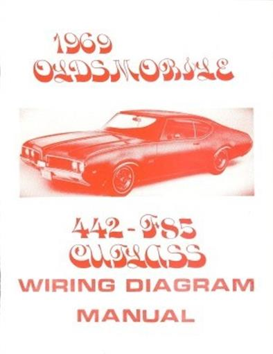 oldsmobile 1969 f85 442 cutlass wiring diagram ebay