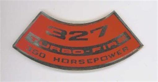 Chevrolet 327 Turbo Fire 350 Hp Air Cleaner Decal Ebay