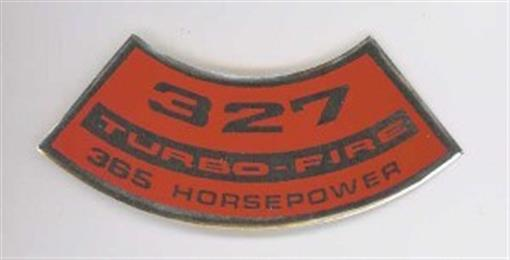 Chevrolet 327 Turbo Fire 365 Hp Air Cleaner Decal