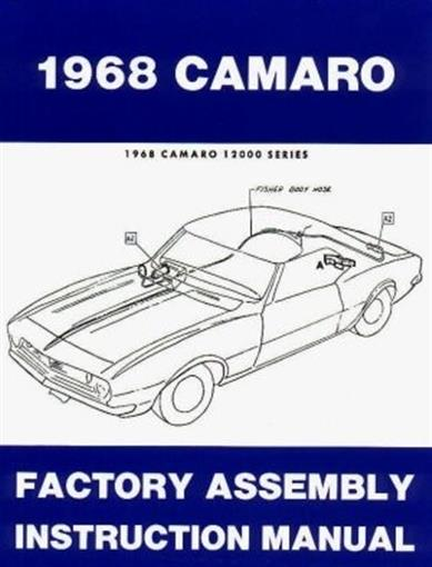 Diagram Camaro 1968 Assembly Manual 68