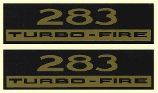 Chevrolet 283 Turbo Fire Valve Cover Decal Set Ebay