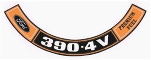 Ford 1970 Amp 1971 390 4v Premium Fuel Air Cleaner Decal Ebay