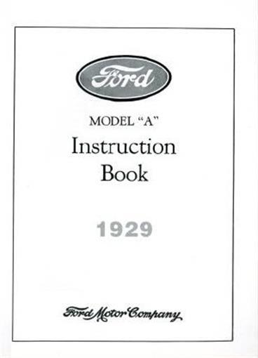 ford 1929 model a car  u0026 aa truck owner u0026 39 s manual 29