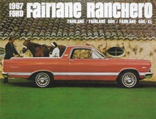 Ford 1967 Fairlane Ranchero Pickup Sales Brochure 67 Ebay