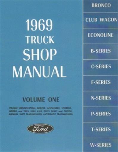 FORD 1969 Bronco, Bus, Van, F100-F350 Pick Up & Heavy Duty ...