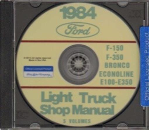 Ford 1984 Bronco Econoline E150 E350 Amp F150 F350 Pick Up