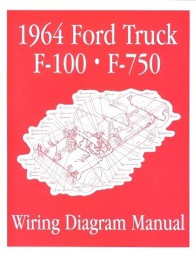 ford 1964 f100 f750 truck wiring diagram manual 64 ebay. Black Bedroom Furniture Sets. Home Design Ideas