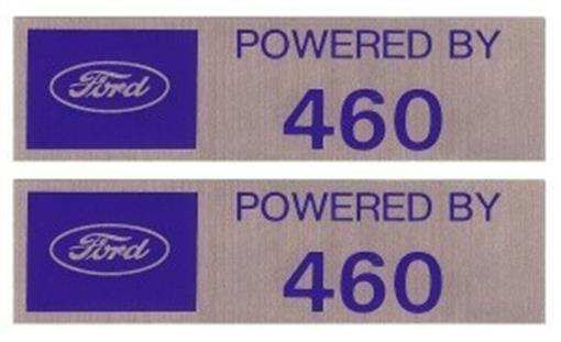 Powered By Ford 460 Valve Cover Decals Ebay