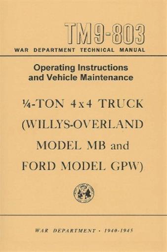 Jeep Willys Mb 1940 1945 Operation Amp Maintenance Manual Ebay