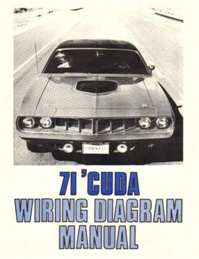 Plymouth 1971 Barracuda Wiring Diagram Manual 71