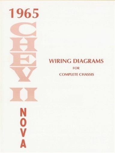 chevy ii nova wiring diagram  this 1965 chevy ii and nova wiring diagrams booklet measuring 8 acircfrac12 x 11 covering the complete chassis power windows seats a c directional signals