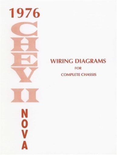 chevy ii nova wiring diagram  this 1976 chevy ii and nova wiring diagrams booklet measuring 8 acircfrac12 x 11 covering the complete body chassis including engine compartment instrument panel