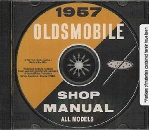 Oldsmobile 1957 Shop Manual Cd 98, Rocket & Super 88