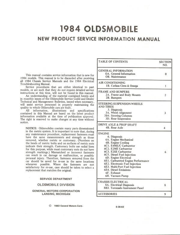 1984 oldsmobile cutl wiring diagram  1984  free engine