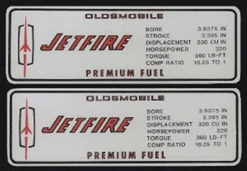 Oldsmobile 1967 Cutlass 320 Hp Valve Cover Decal Olds Ebay