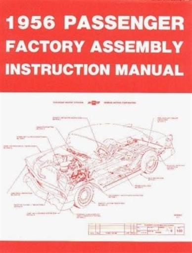 Chevrolet 1956 Bel Air  Nomad Assembly Manual 56 Chevy