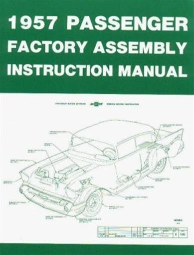 Chevrolet 1957 Bel Air Nomad Assembly Manual 57 Chevy