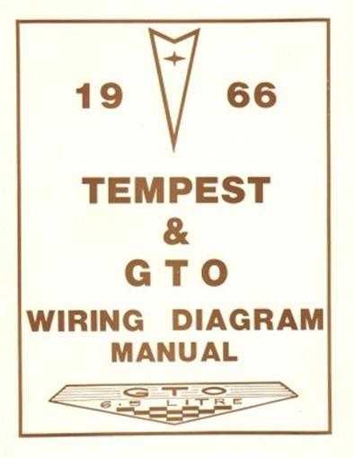 PONTIAC 1966 Tempest & GTO Wiring Diagram 66 eBay