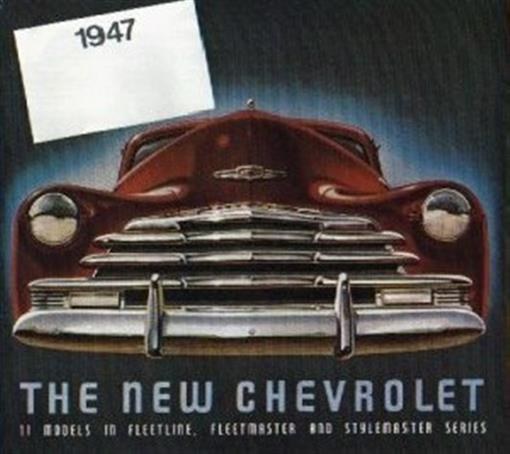 Chevrolet 1947 Sales Brochure 47 Chevy Ebay