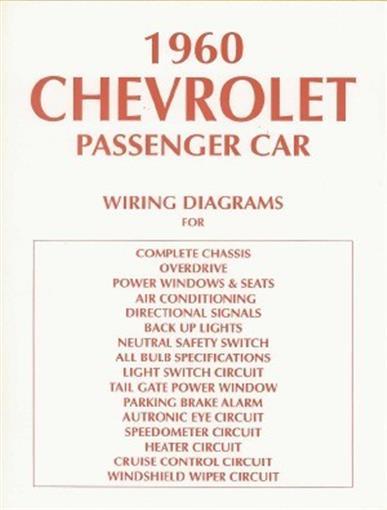 chevrolet 1960 impala bel air biscayne full size car wiring diagram ebay. Black Bedroom Furniture Sets. Home Design Ideas