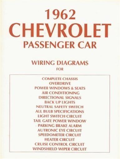 Chevrolet 1962 Impala  Bel Air  U0026 Biscayne Full Size Car