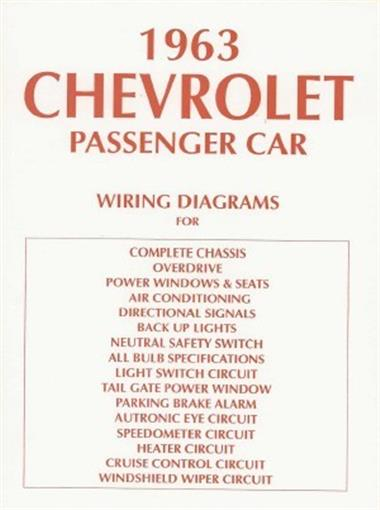 chevrolet 1963 impala, bel air & biscayne full size car ... wiring diagram 1963 bel air wagon wiring diagram 1967 ford ranch wagon #7