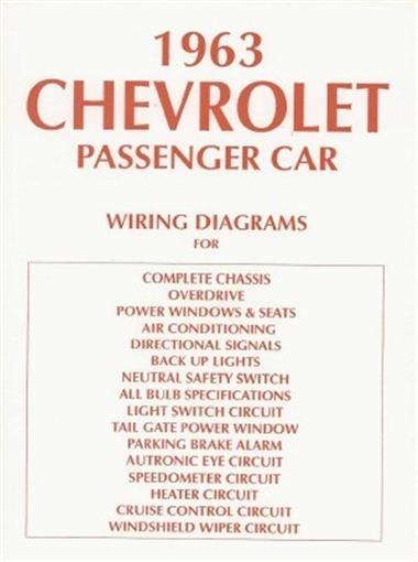 Chevrolet 1963 Impala Bel Air Amp Biscayne Full Size Car