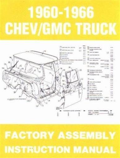 Chevrolet  U0026 Gmc 1960 1961 1962 1963 1964 1965  U0026 1966 Truck Assembly Manual