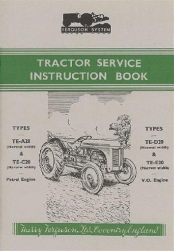Ferguson Tractor Te Owner S Manual 1947 1956 Ebay