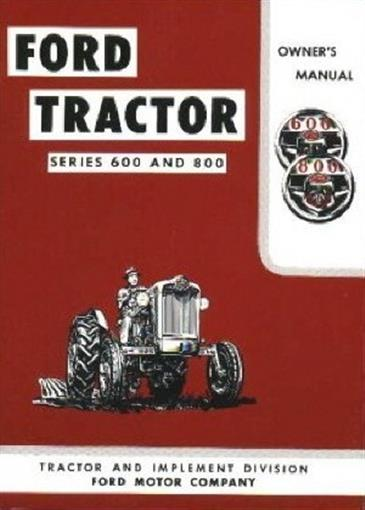 Ford Tractor 800 Series Specifications : Ford tractor owner s manual ebay