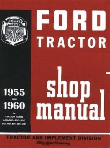 Ford Tractor Shop Manual 1955