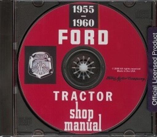 FORD 1955-1960 Tractor Shop Service Manual CD | eBay