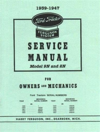 ford tractor 9n 2n shop service manual 1939 1947. Black Bedroom Furniture Sets. Home Design Ideas