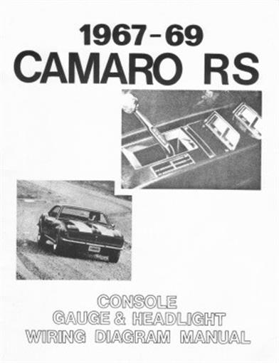 this special camaro wiring diagram manual measuring roughly 8 � x 11,  covers console gauges and headlights and includes information on console  gauge