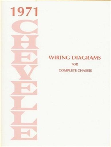 Details about CHEVELLE 1971 Wiring Diagram 71 on