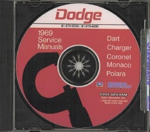 Dodge 1969 chargerdartsuper bee shop manual cd 69 ebay this brand new dodge service manual cd covers the 1969 dodge dart charger super bee rt polara monaco coronet coronet deluxe coronet 440 publicscrutiny Choice Image