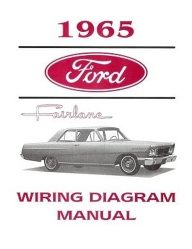 1965 ford wiring schematic ford 1965 fairlane wiring diagram manual 65 ebay  1965 fairlane wiring diagram manual