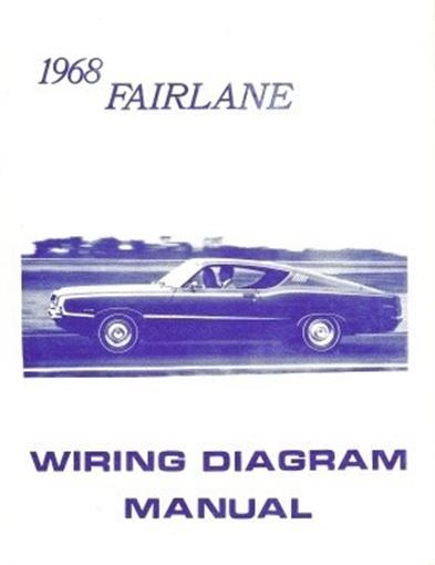 this listing is for one brand new 1968 ford fairlane car wiring diagram  manual measuring approximately 8-� x 11, covering the instrument panel