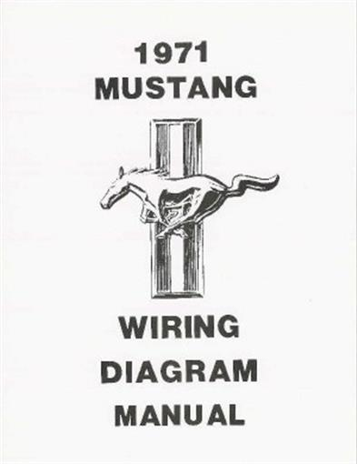 Mustang 1971 Wiring Diagram Manual 71 Ebay