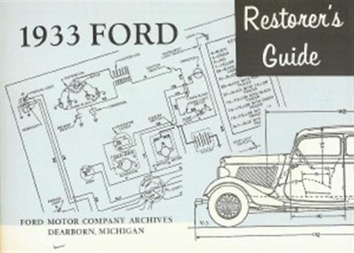Ford 1933 Restoration Manual 33 Ebay
