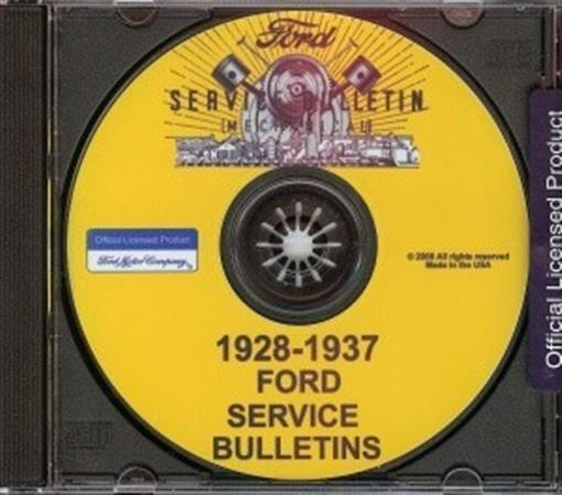 Ford 1928 1937 Car Amp Truck Shop Service Manual Cd Ebay