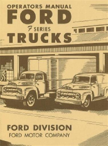 1951 Chevy Truck Owner/'s Manual