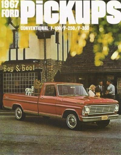 FORD 1967 TRUCK Sales Brochure 67 Pick Up