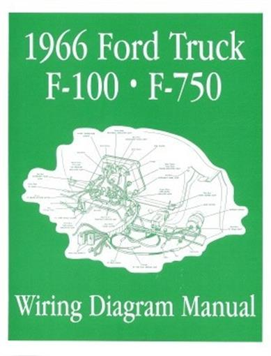1964 Ford F100 Thru F750 Truck Wiring Diagram Manual Reprint