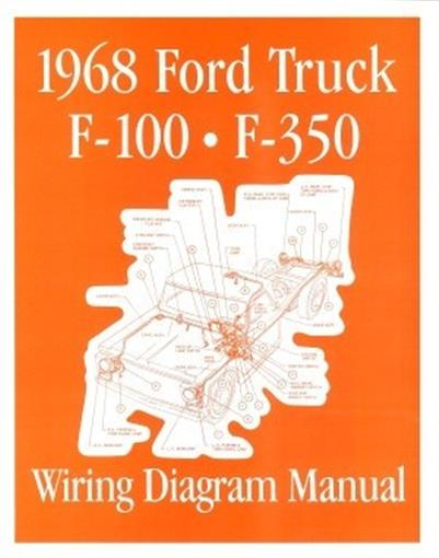 FORD 1968 F100 - F350 Truck Wiring Diagram Manual 68 | eBay