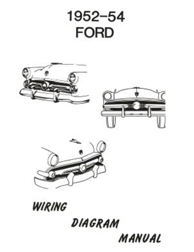 ford 1952  1953  u0026 1954 car wiring diagram manual